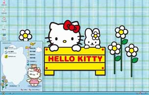 Hello Kitty桌面xp主题
